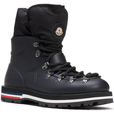 Moncler Inaya Puffer Lined Hiking Boot, Black