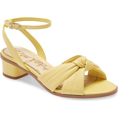 Sam Edelman Ingrid Ankle Strap Sandal, Yellow