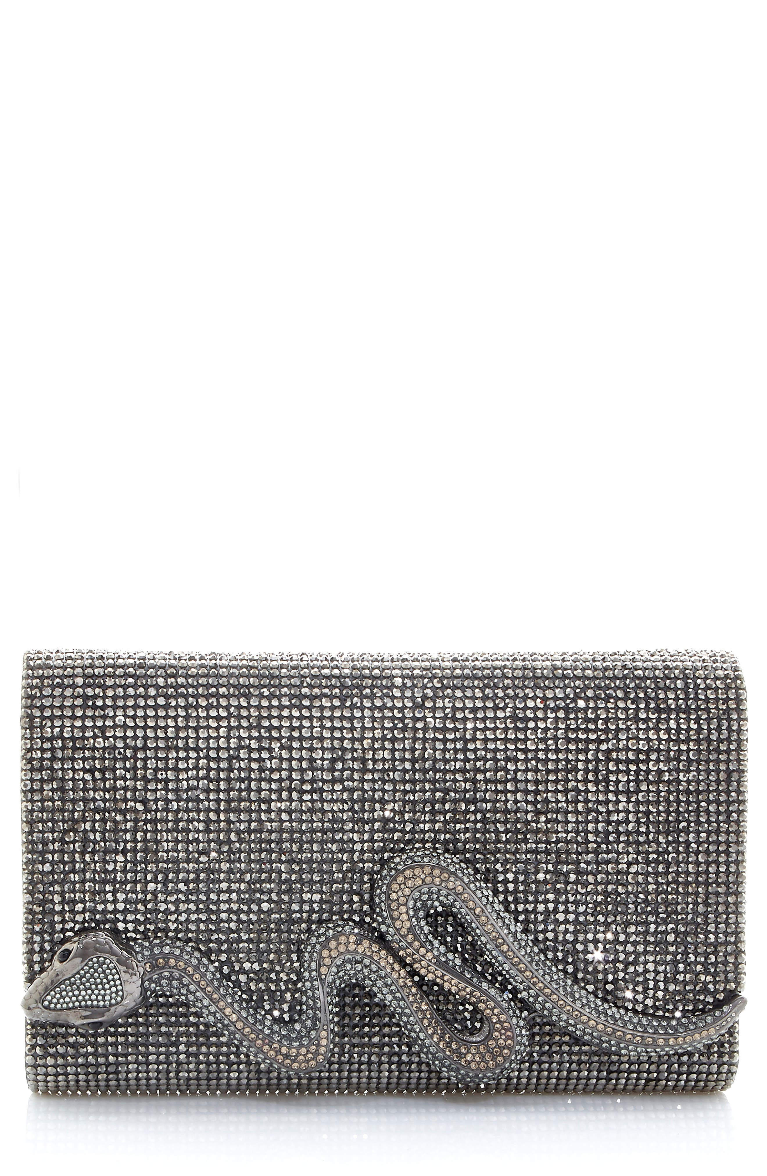Couture Serpent Crystal Clutch