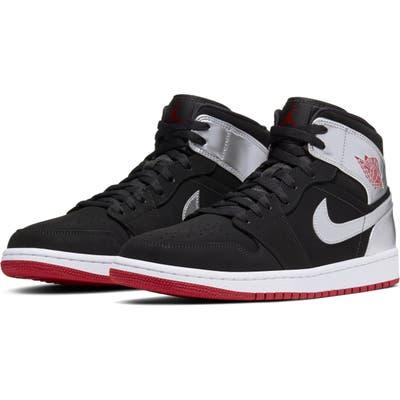Nike Air Jordan 1 Mid Sneaker, Metallic