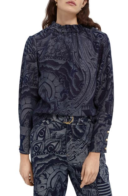 Scotch & Soda JACQUARD TOP