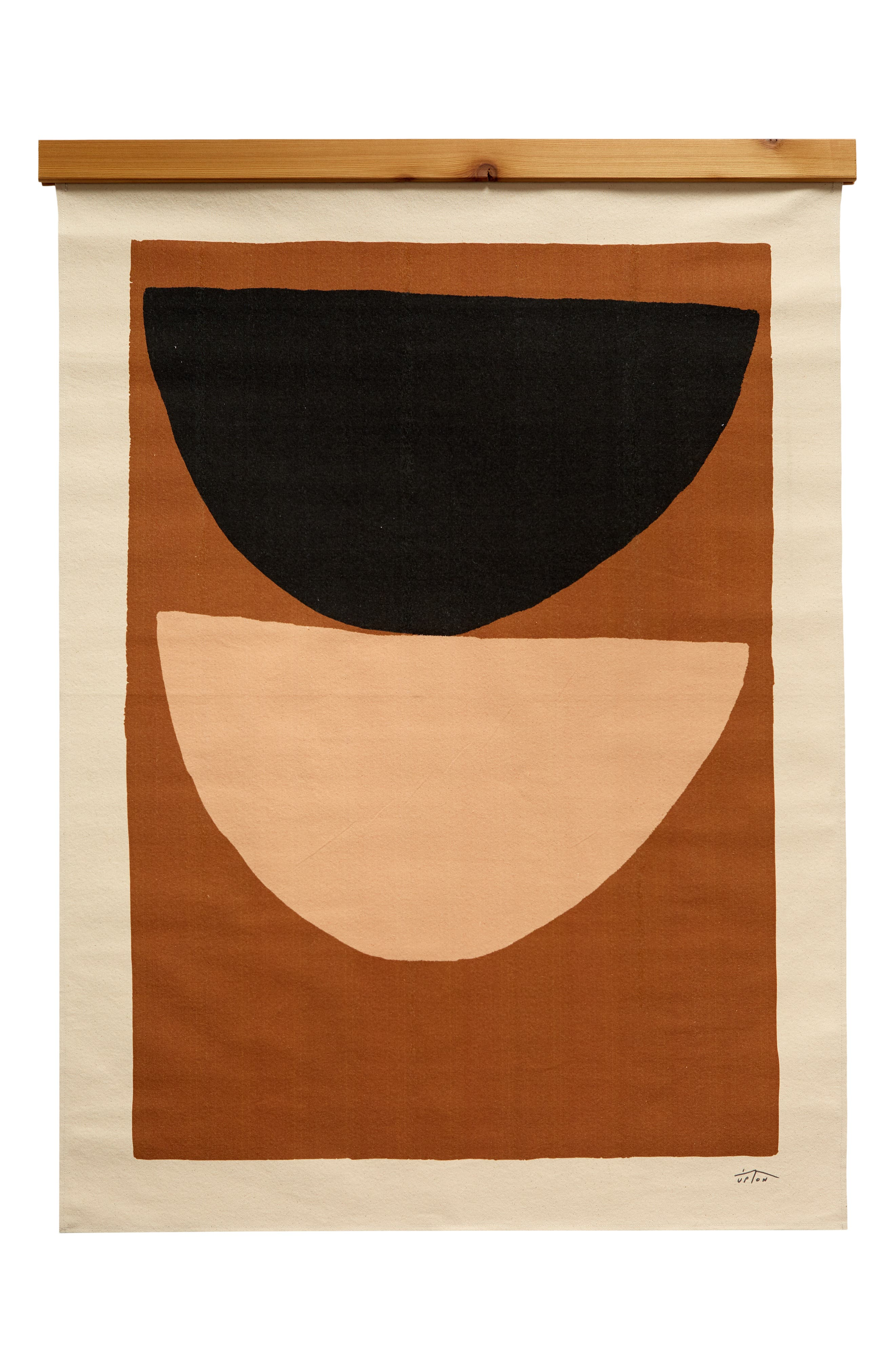 Bold abstractions bring earth-tone curves and geometries to a wall hanging printed on lightweight cotton canvas to bring a statement-scale accent to any decor. Style Name: Upton Amberson Canvas Wall Hanging. Style Number: 6133488. Available in stores.