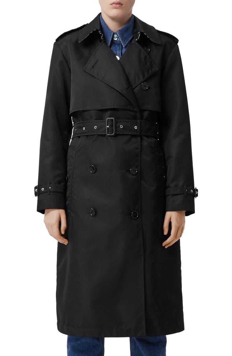 BURBERRY Deighton Trench Coat, Main, color, 001