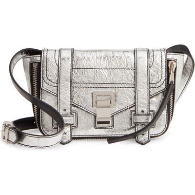 Proenza Schouler Mini Ps1+ Metallic Leather Crossbody Bag - Metallic