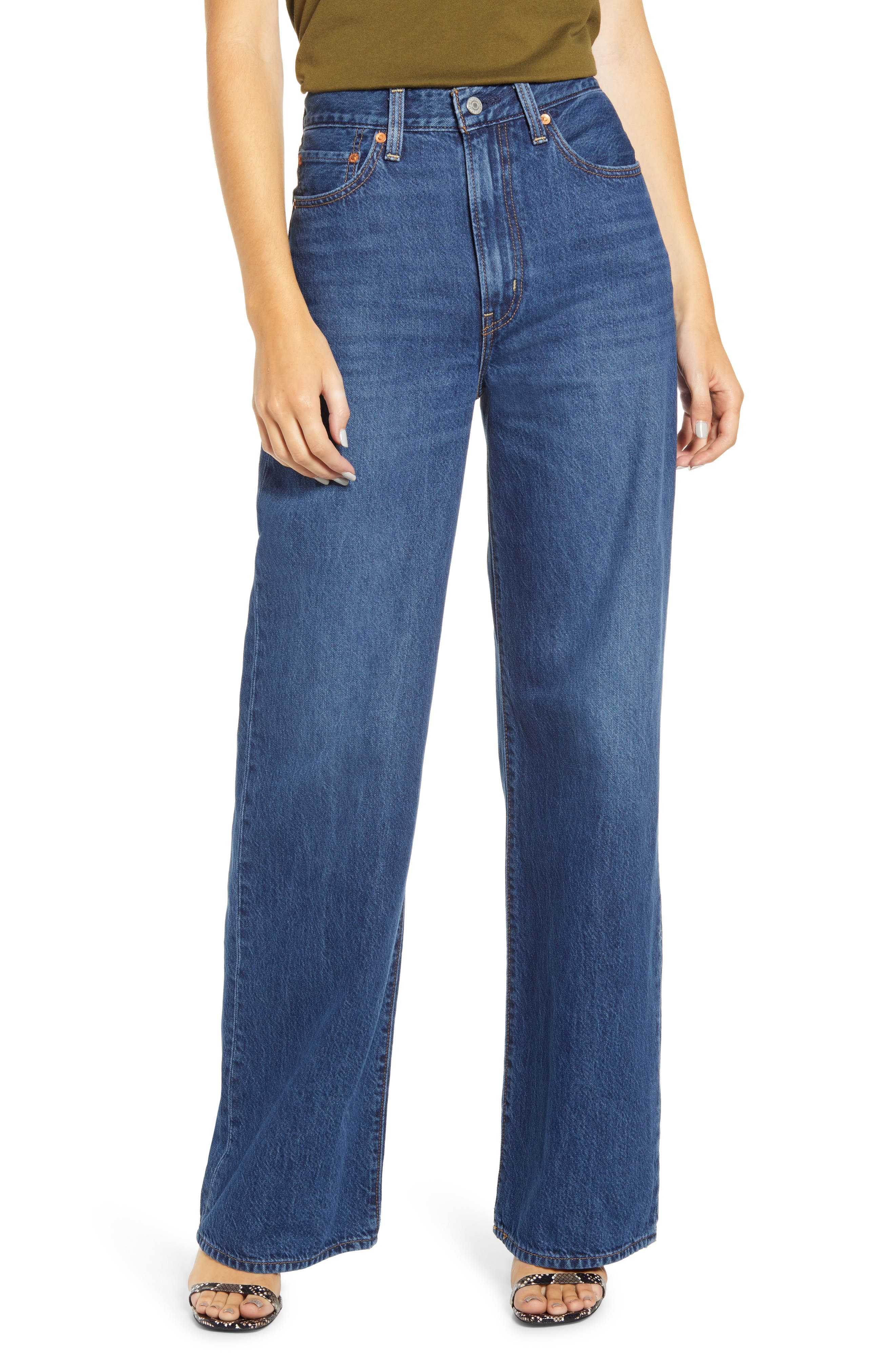 Levi's® Ribcage Super High Waist Wide Leg Jeans (High Times)