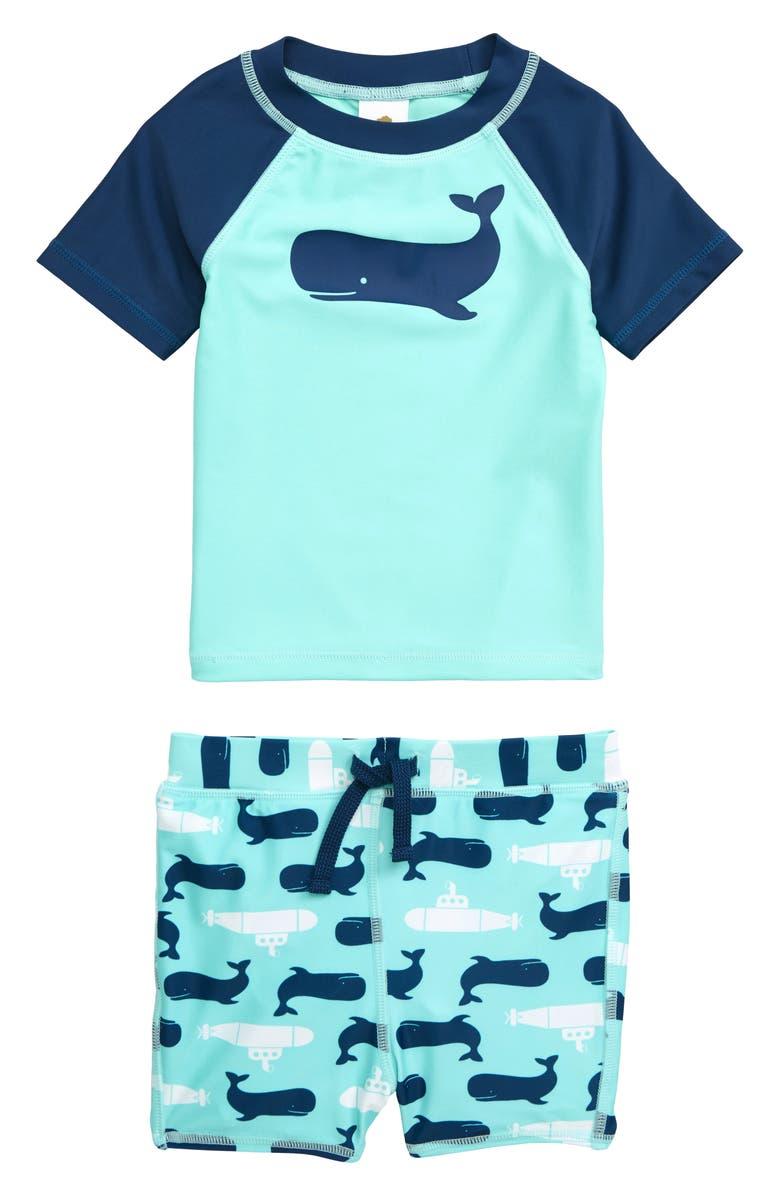 TUCKER + TATE Two-Piece Rashguard Swimsuit, Main, color, 445