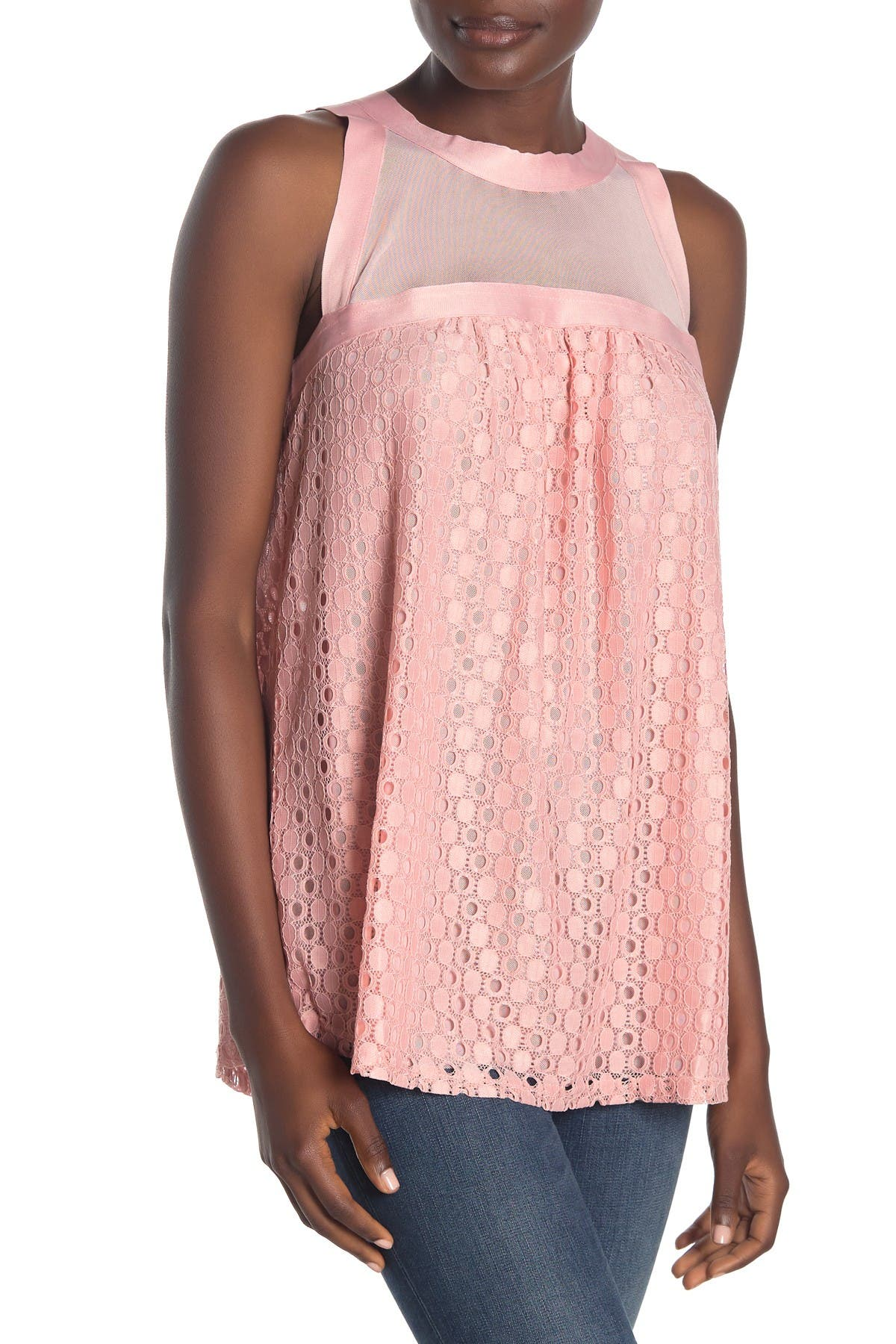 Image of Forgotten Grace Lace Mesh Tank Top