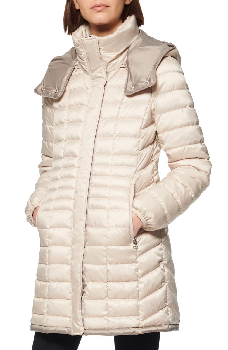 MARC NEW YORK Marble Packable Puffer Jacket, Main, color, PUTTY