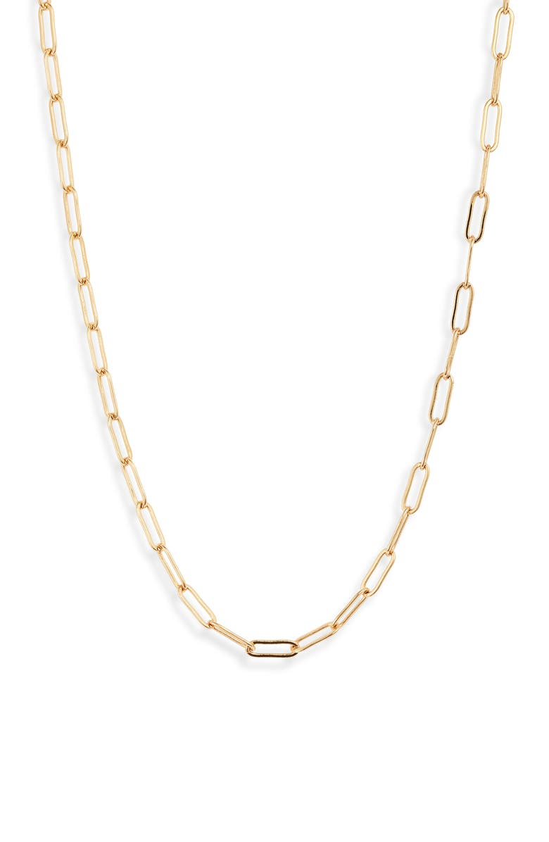 STERLING FOREVER Linked Chain Necklace, Main, color, GOLD