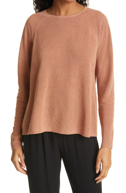 Eileen Fisher ORGANIC LINEN & COTTON RAGLAN SWEATER