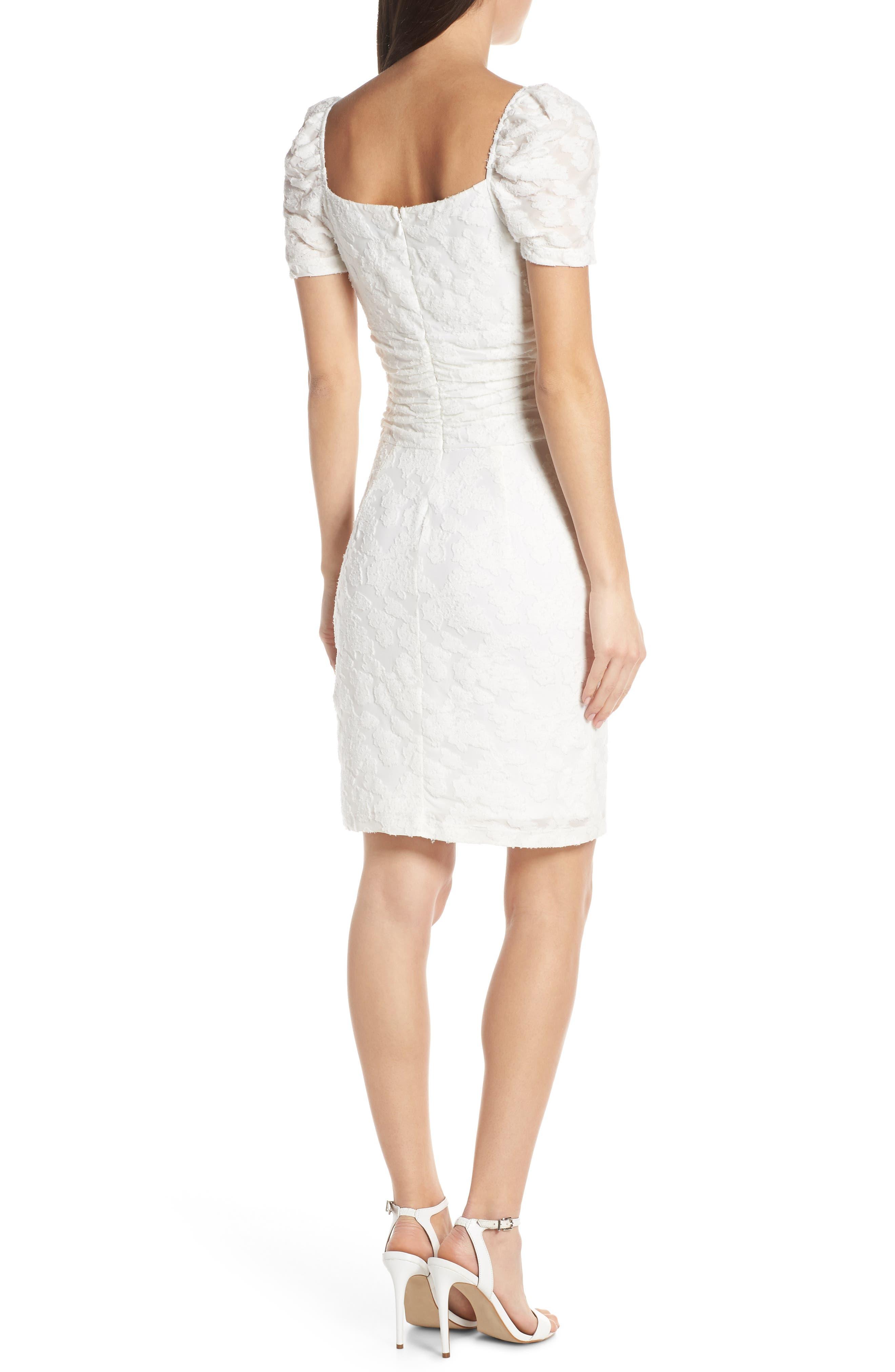 ,                             Big Mistake Short Sleeve Sheath Dress,                             Alternate thumbnail 2, color,                             WHITE FLORAL