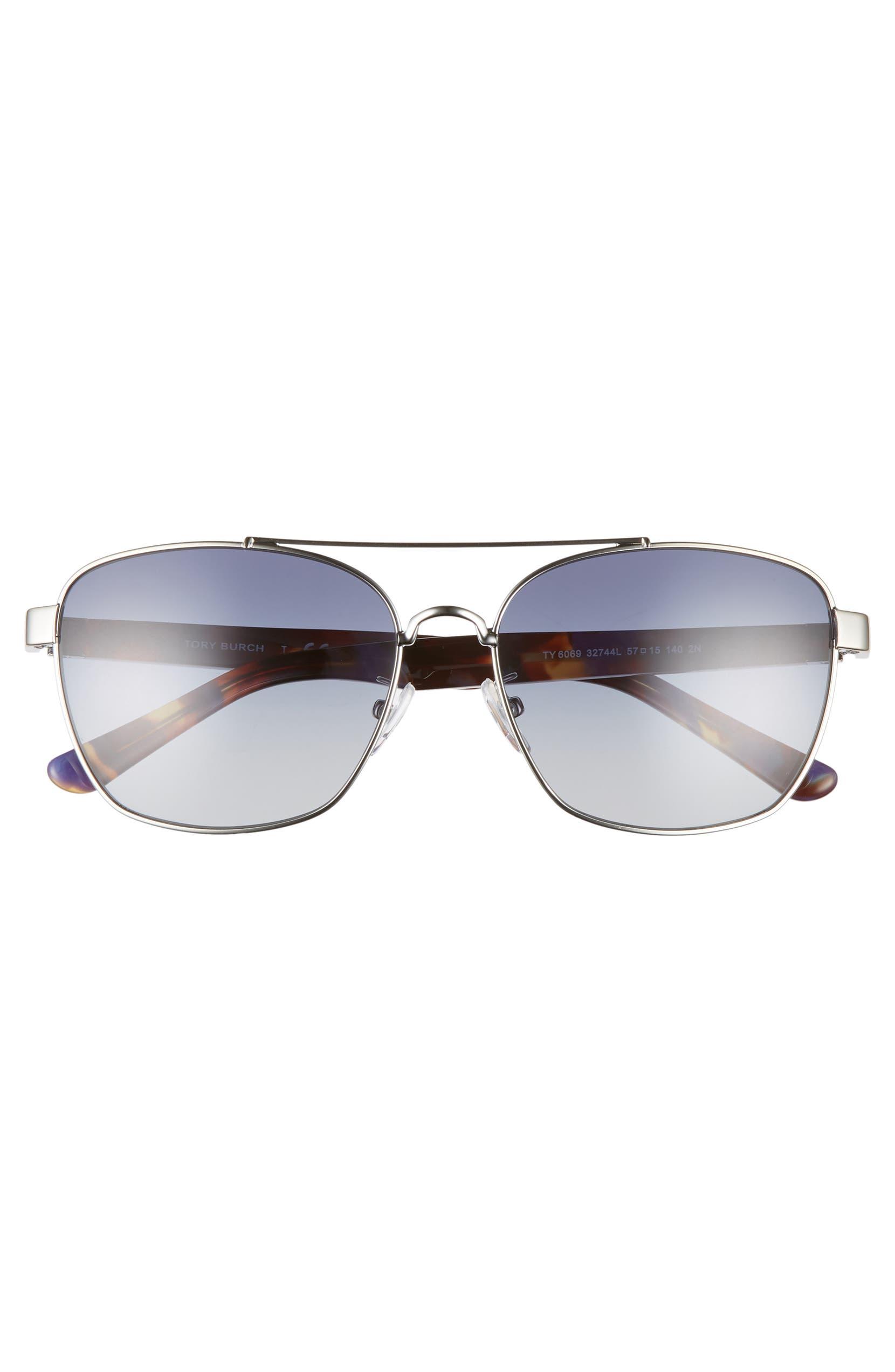 d7c415ba712d Tory Burch 57mm Gradient Navigator Sunglasses | Nordstrom