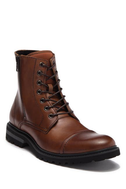 Image of Kenneth Cole Reaction Daxten Leather Lace-Up Boot