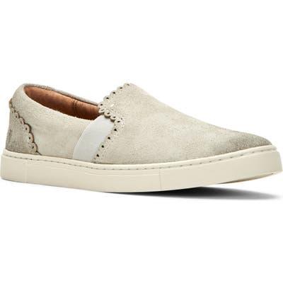Frye Ivy Scalloped Slip-On Sneaker, Ivory