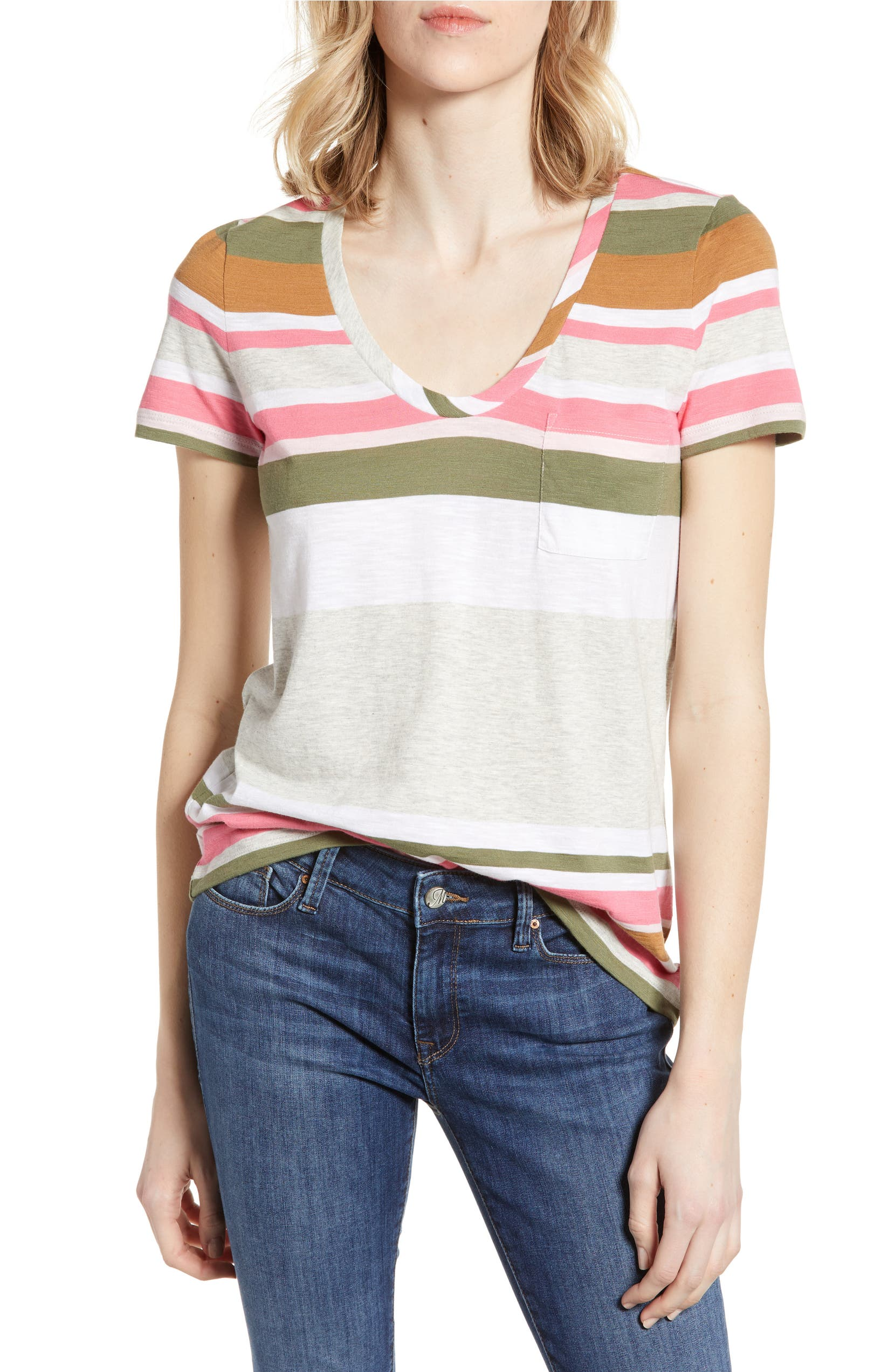 d013e61d Caslon® Rounded V-Neck Tee (Regular & Petite) (2 for $38) | Nordstrom