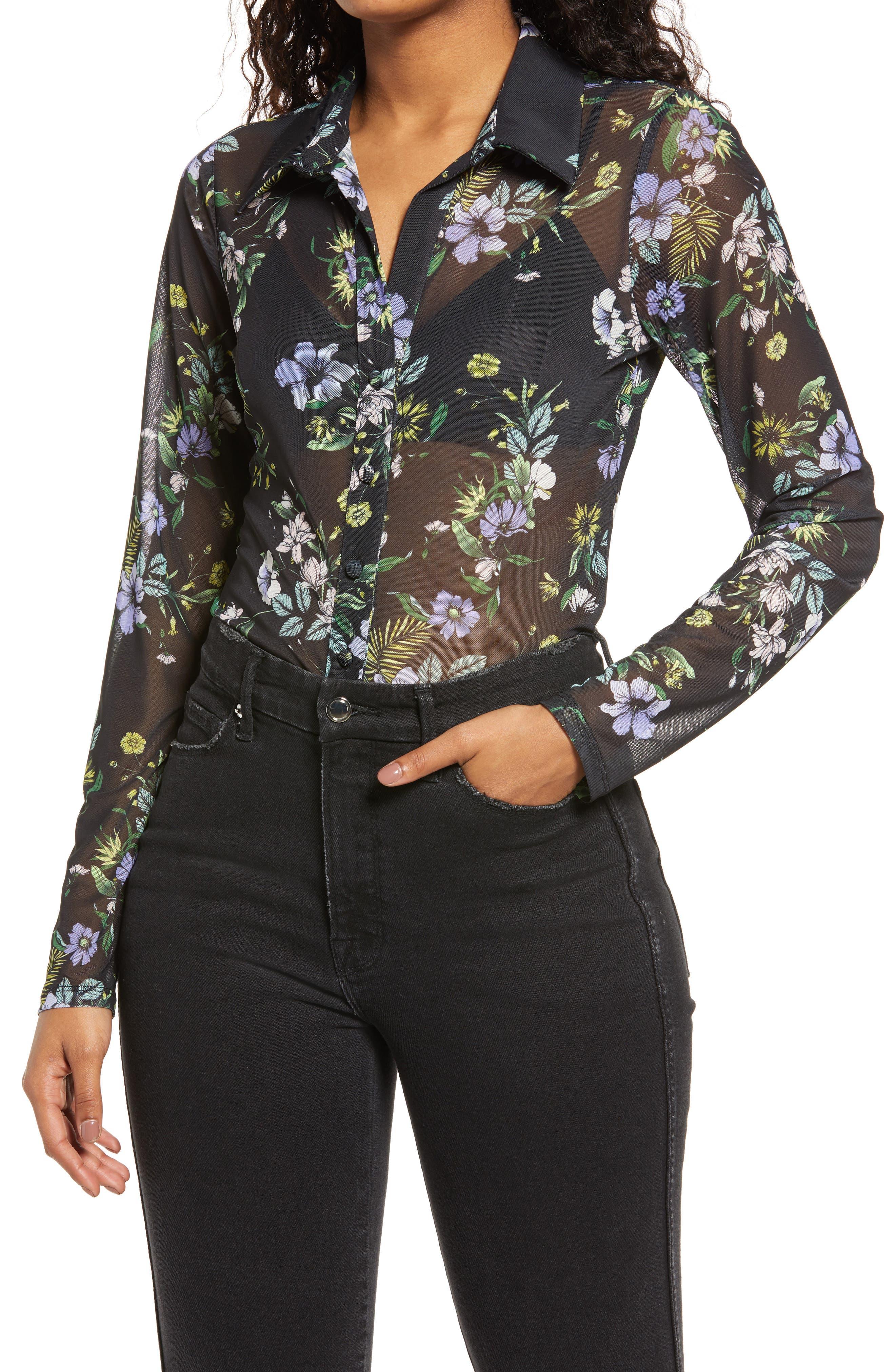 Zayne Floral Button-Up Blouse