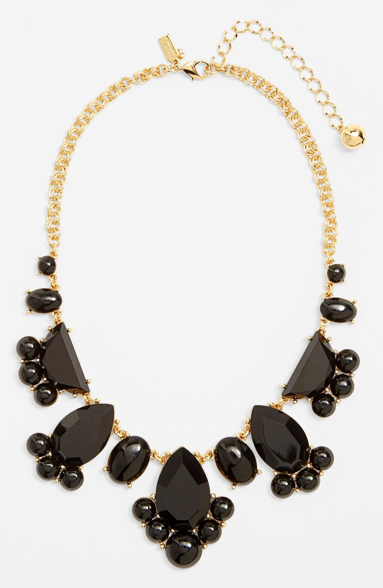KATE SPADE NEW YORK 'day tripper' bib necklace, Main, color, 001