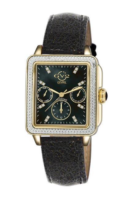 Image of Gevril Women's Bari Sparkle Swiss Diamond Watch, 37mm - 0.0044 ctw