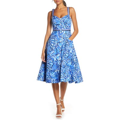 Lilly Pulitzer Ellee Fit & Flare Sundress, Blue
