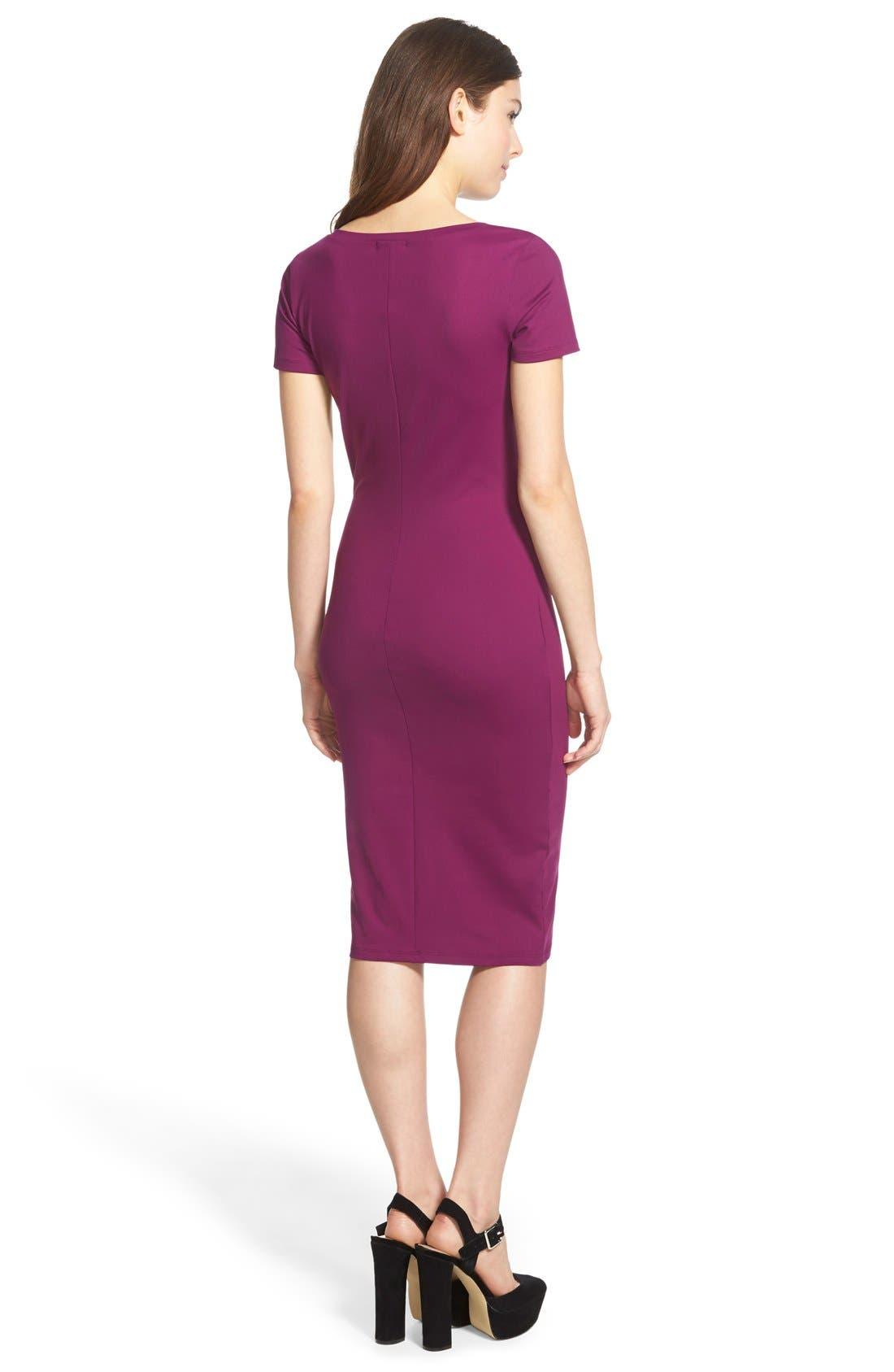 ,                             V-Neck Body-Con Dress,                             Alternate thumbnail 22, color,                             515