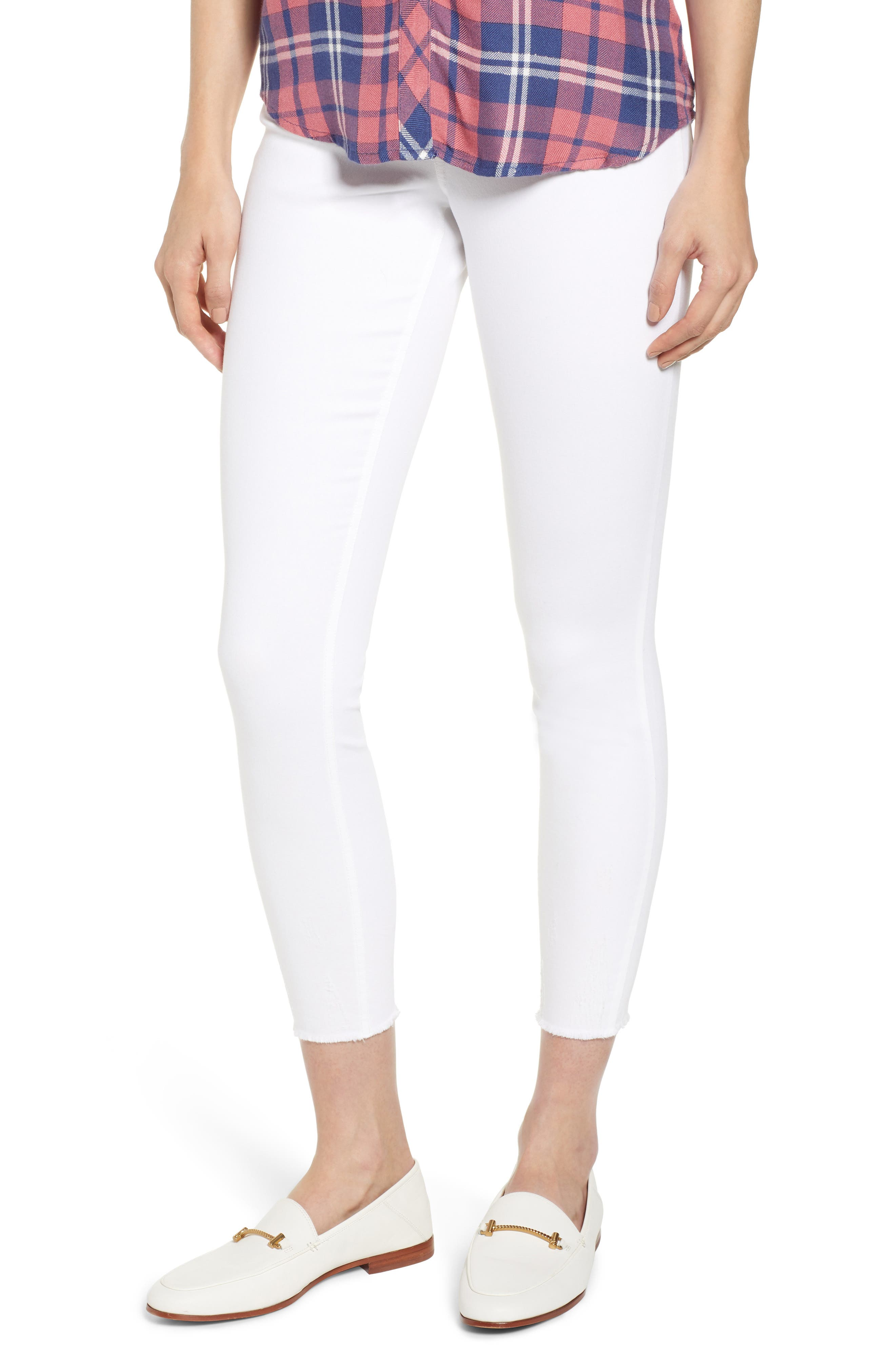 Plus Size Hue Ultrasoft Denim Skimmer Leggings, White
