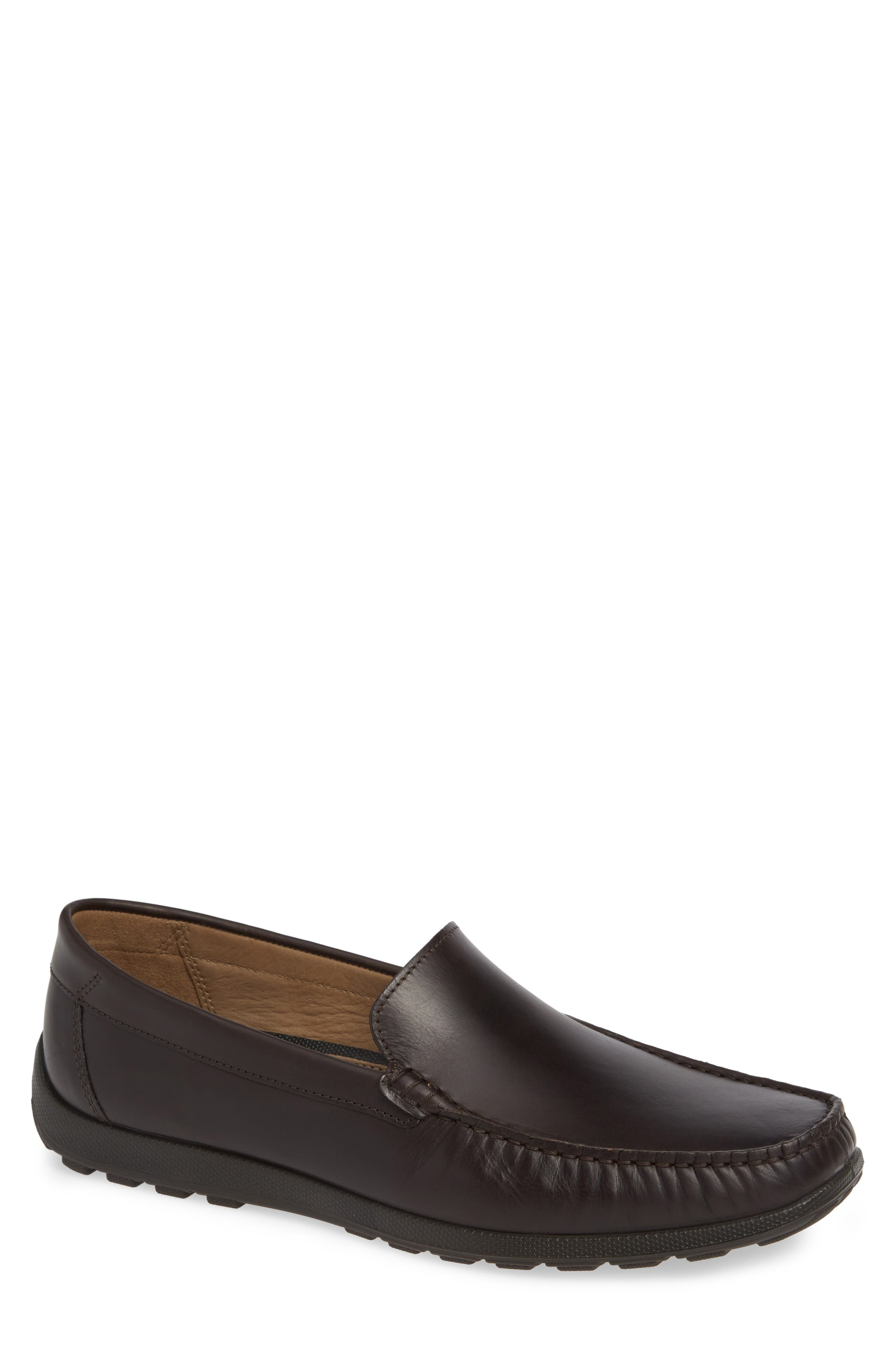Ecco Dip Moc Toe Driving Loafer,9.5 - Brown