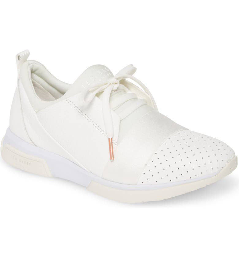 TED BAKER LONDON Cepas Sneaker, Main, color, WHITE LEATHER