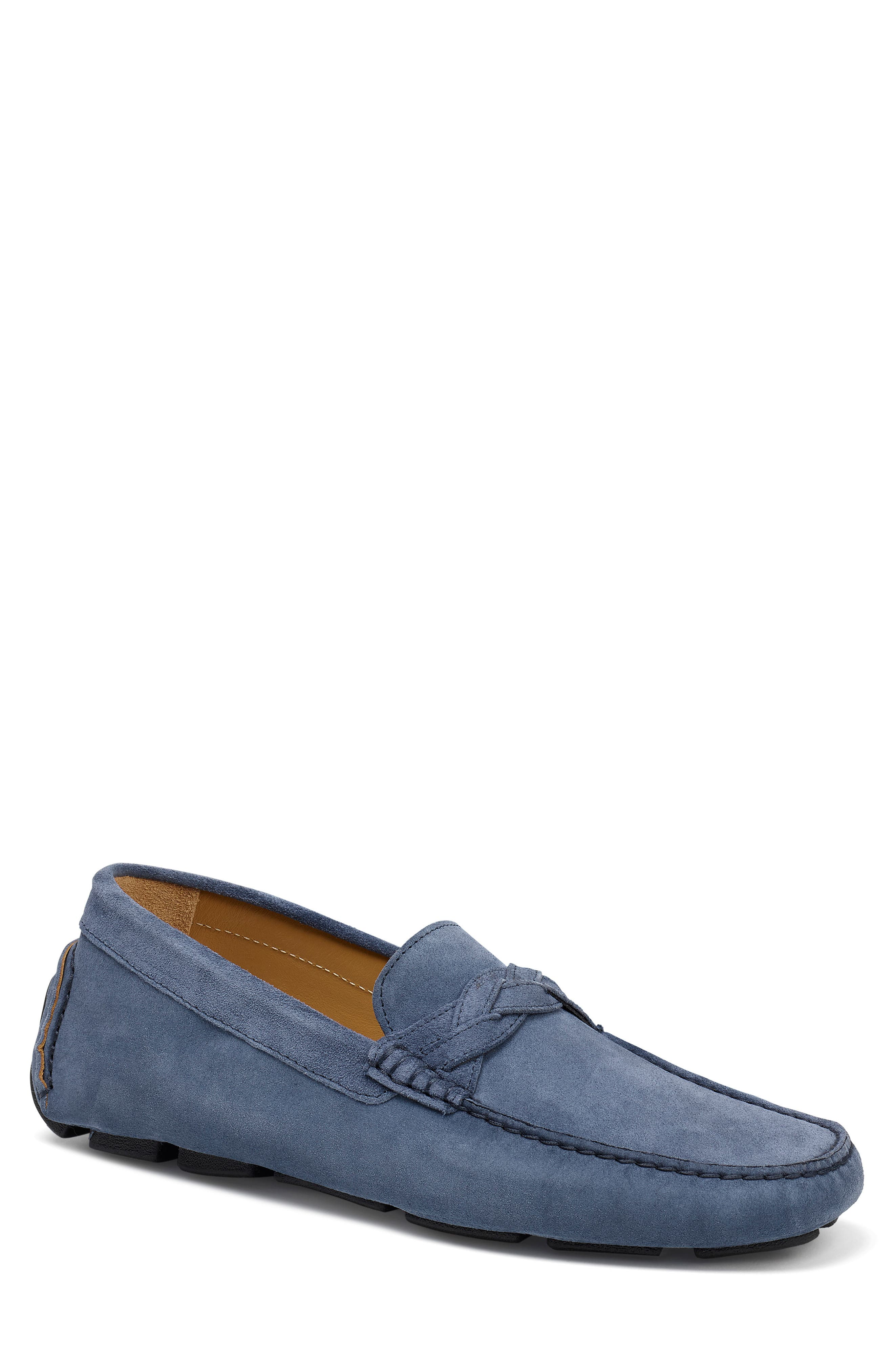 A handsome driving shoe from Italy is finely crafted of richly burnished calfskin with hand-braided detail and a grippy pod sole. Style Name: Trask Silas River Moc Toe Slip-On (Men). Style Number: 5804113 2. Available in stores.