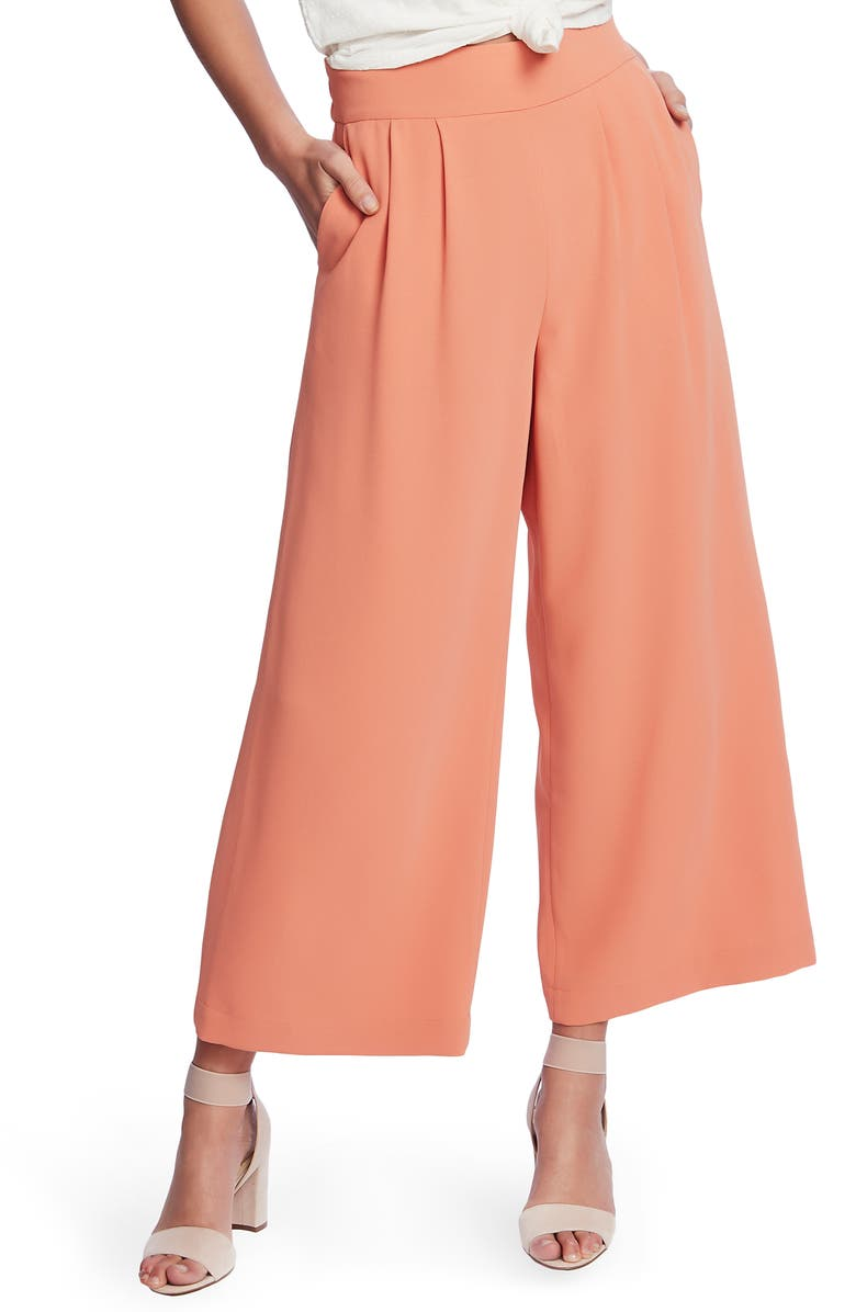 1.STATE Wide Leg Crepe Trousers, Main, color, ROMANTIC APRICOT