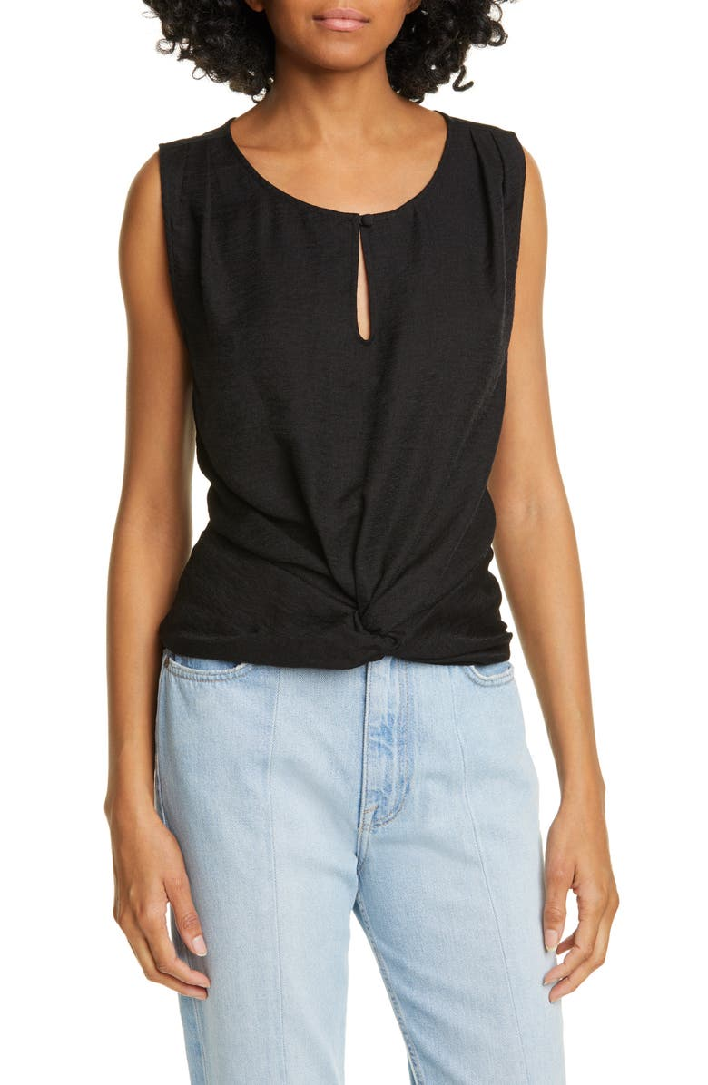 JOIE Knotted Slub Jersey Tank, Main, color, 001
