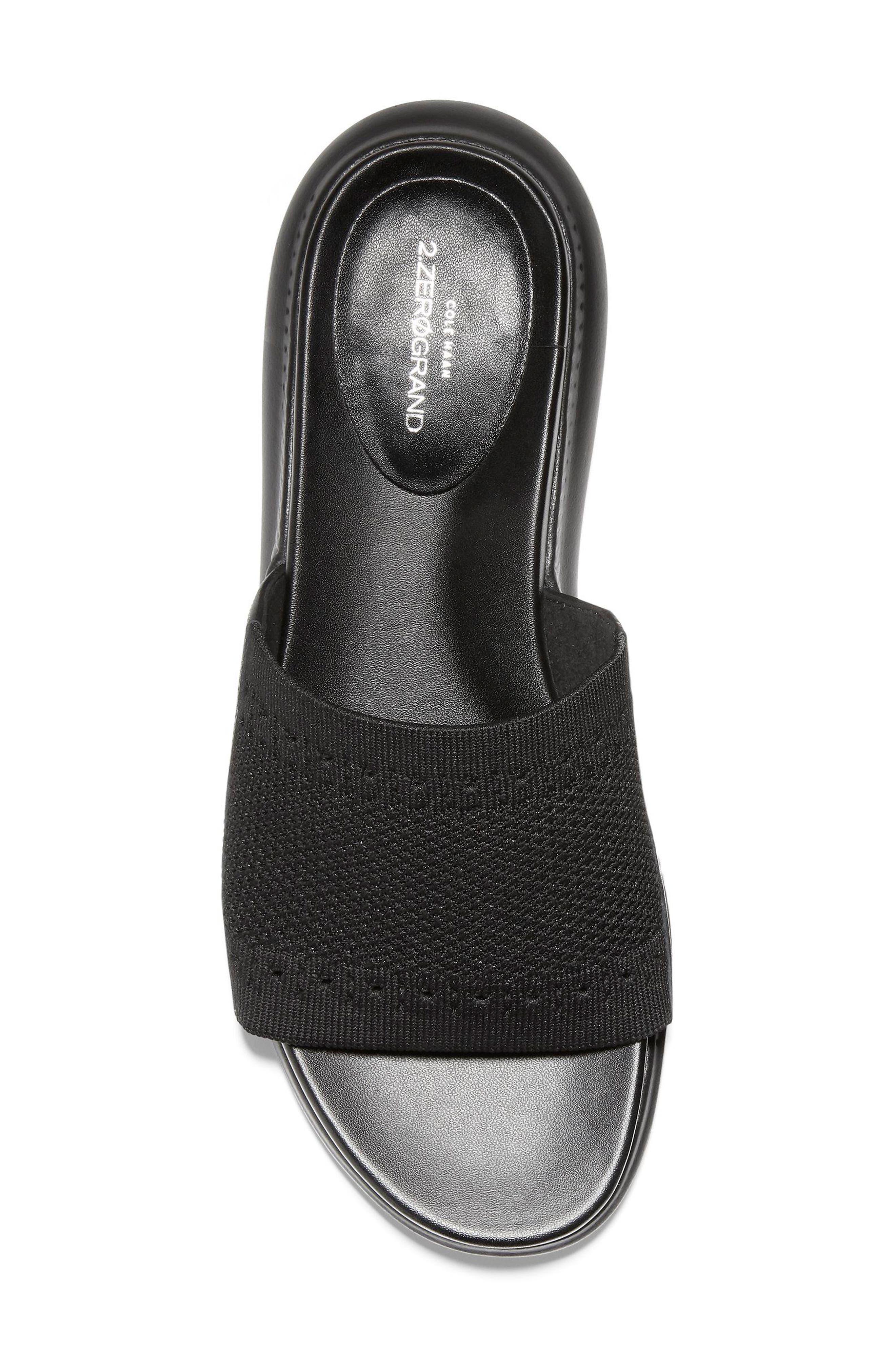 ,                             2.Zerogrand Stitchlite<sup>™</sup> Slide Sandal,                             Alternate thumbnail 5, color,                             BLACK LEATHER