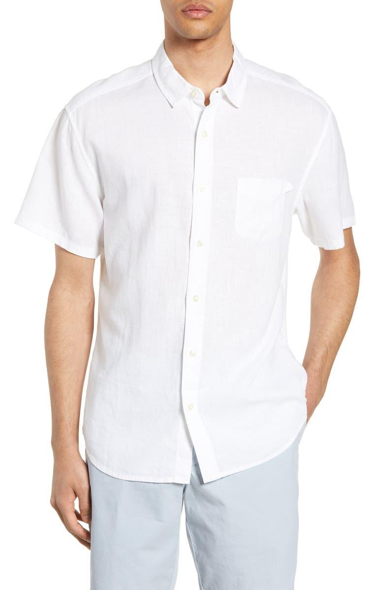 LIFE/AFTER/DENIM Linen Blend Shirt, Main, color, 111