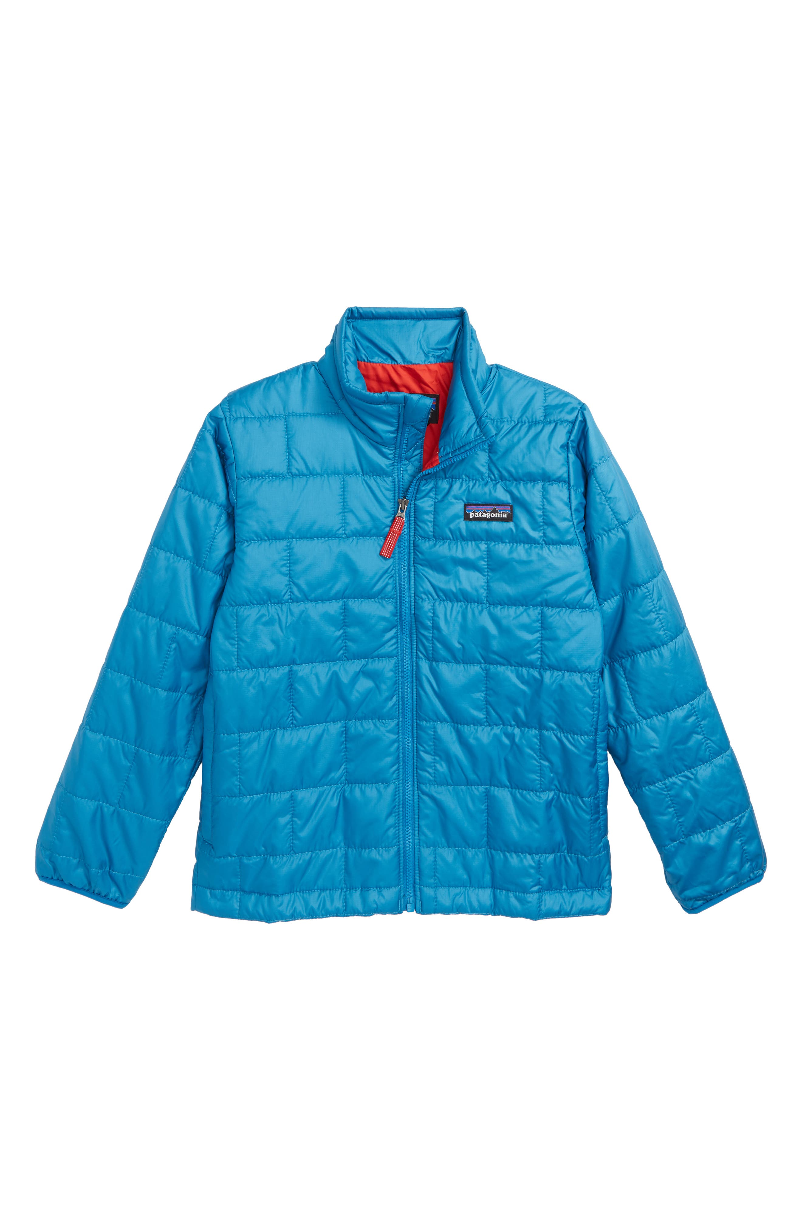 Boys Patagonia Nano Puff Water Repellent Primaloft Insulated Jacket Size XL (14)  Blue