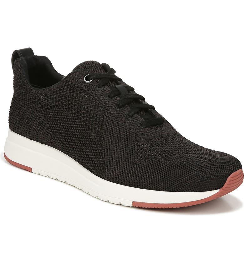 VINCE Palo Knit Sneaker, Main, color, BLACK MARL