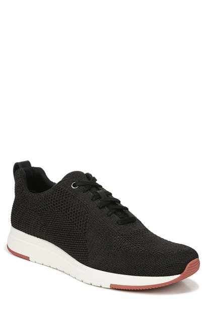Vince Men's Palo Knit Trainer Sneakers In Black Marl