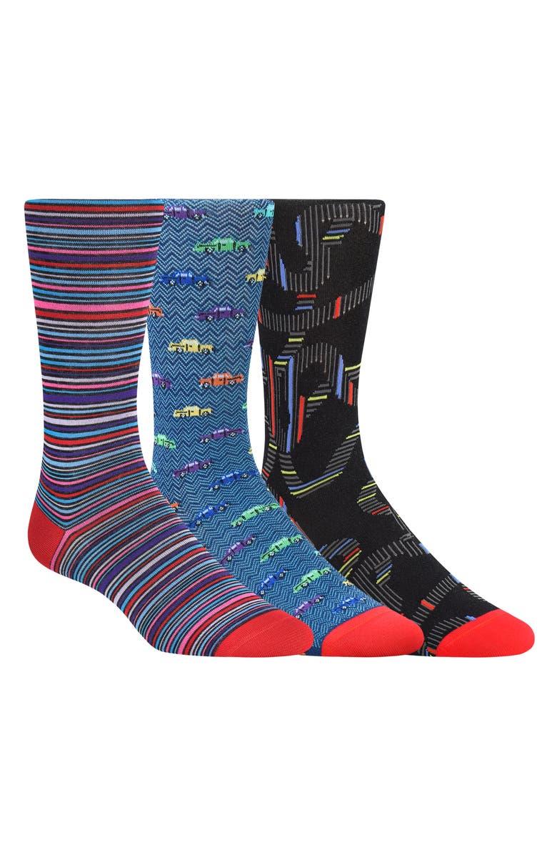 BUGATCHI 3-Pack Sock Gift Set, Main, color, 600