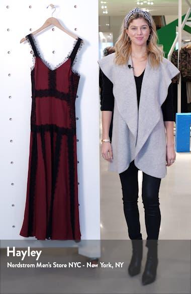 Lace Inset Sleeveless Silk Maxi Dress, sales video thumbnail