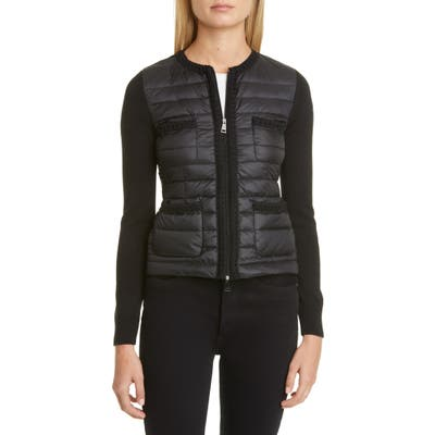 Moncler Quilted Down Jacket, Black