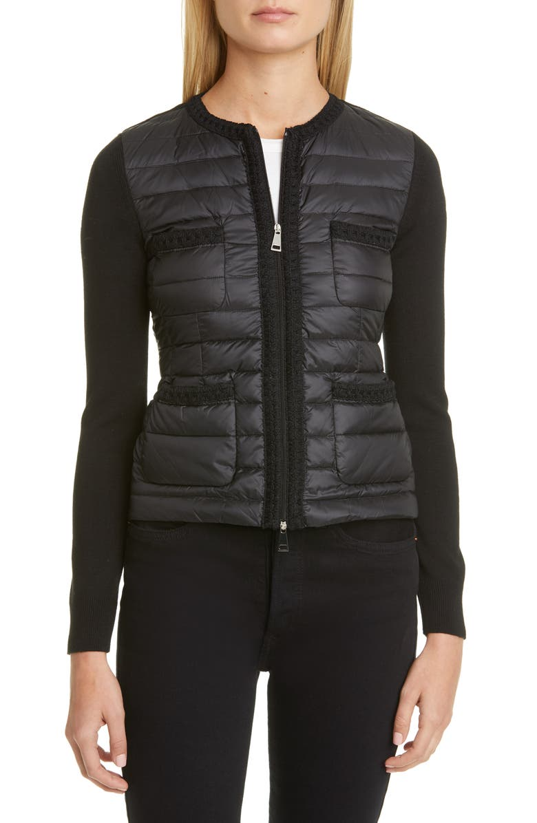 MONCLER Quilted Down Jacket, Main, color, 001