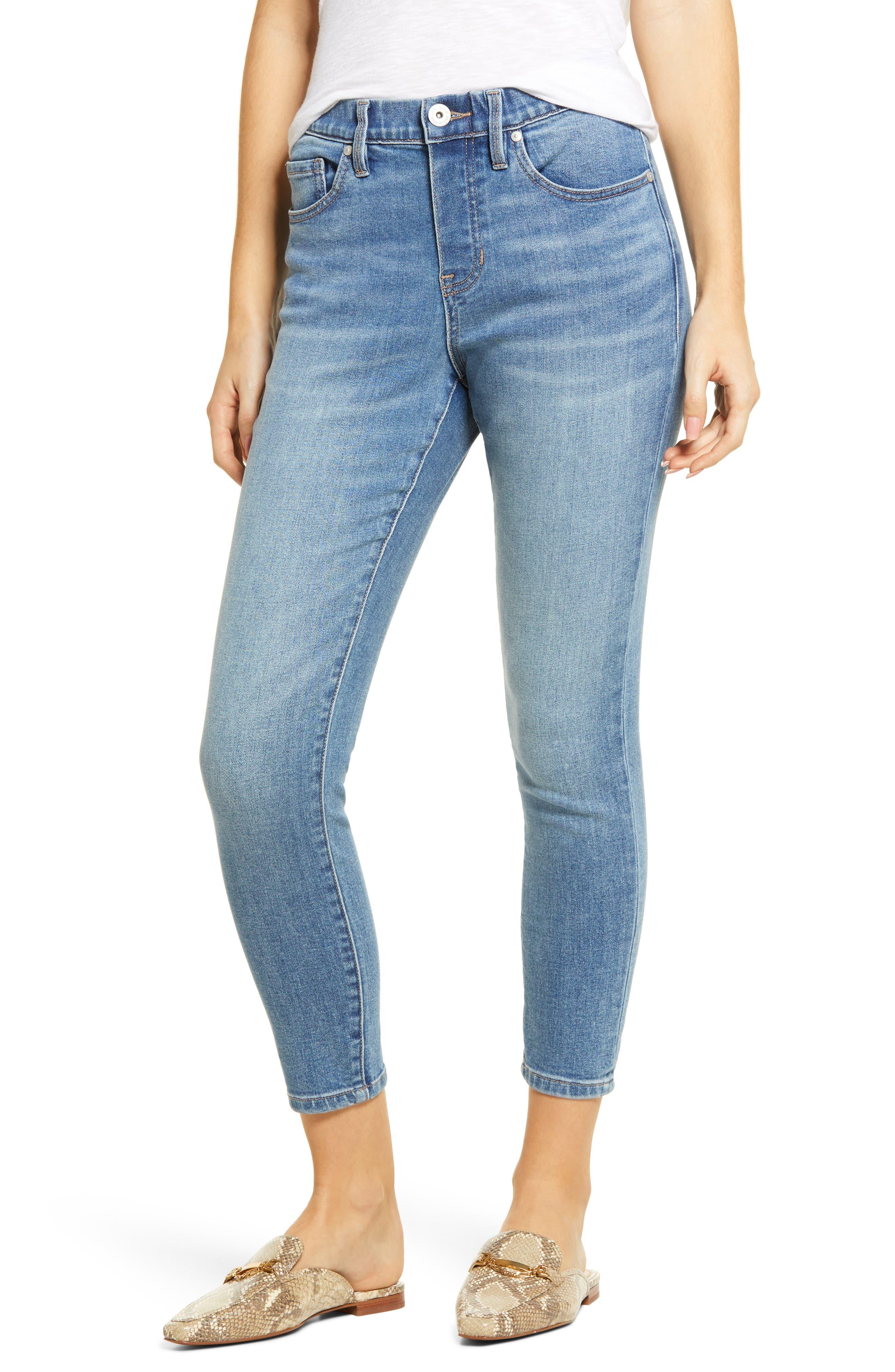 Valentina Pull-On High Waist Crop Skinny Jeans