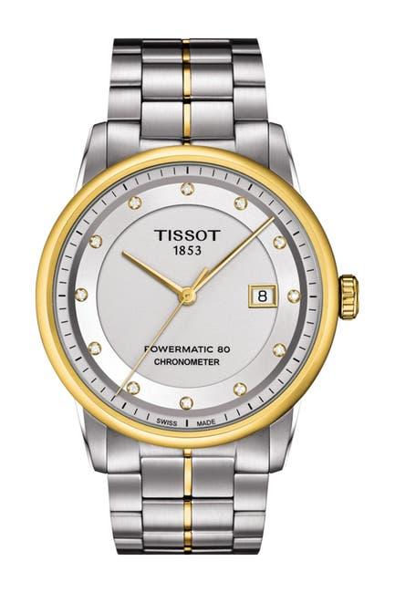Image of Tissot Men's Luxury Powermatic 80 COSC Watch, 41mm - 0.0852 ctw