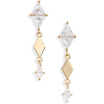 Nordstrom Cubic Zirconia Linear Drop Earrings