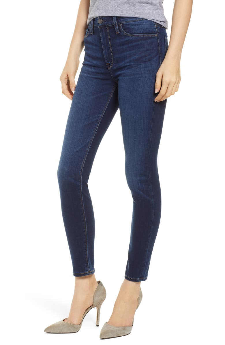 HUDSON JEANS Barbara High Waist Ankle Super Skinny Jeans, Main, color, BALTIC