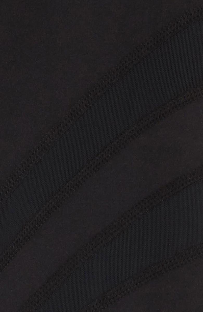 ZELLA GIRL Mesh Inset Crop Leggings, Main, color, 001