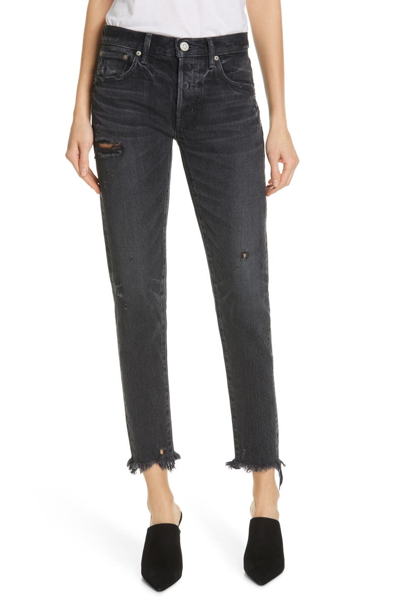 MOUSSY VINTAGE Kelley Crop Tapered Jeans, Main, color, 001
