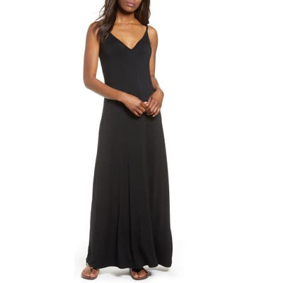 Petite Gibson X Living In Yellow Hazel Casual Knit Maxi Dress, Black (Regular & Petite) (Nordstrom Exclusive)