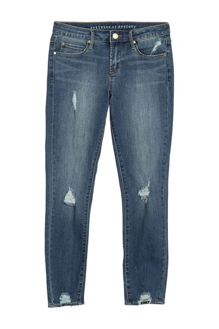 Image of Articles of Society Suzy Cropped Distressed Jeans