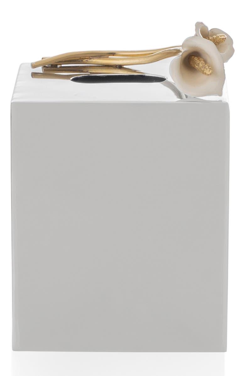 MICHAEL ARAM Calla Lily Tissue Box Holder, Main, color, SILVER