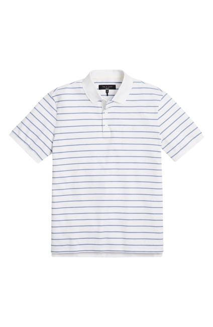 Image of Rag & Bone Stripe Pique Polo