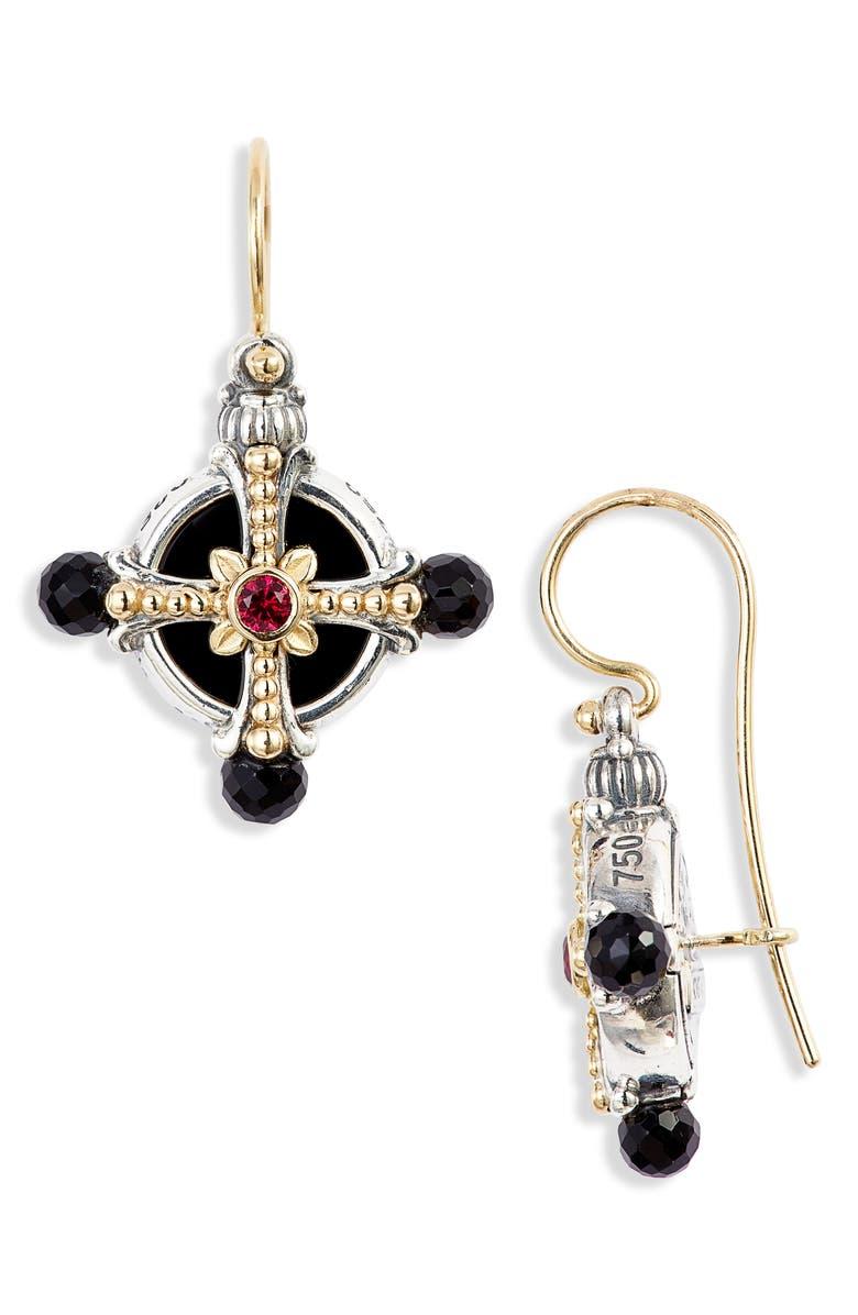 KONSTANTINO Calypso Cross Drop Earrings, Main, color, 040